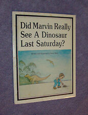 Did Marvin Really See A Dinosaur Last Saturday? S/C book SIGNED by Steve Allen