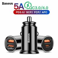 Quick Charge Usb Car Charger Iphone Xiaomi Huawei 5A Fast PD Car Charging Qc 4.0