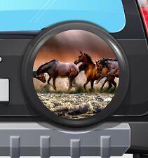 4X4 Spare Wheel Cover Vinyl sticker decal, HORSEWAVES camper RV CARAVAN VAN 55Cm
