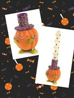 Patience Brewster Peter Pumpkin Candle Holder Halloween Taper Candle