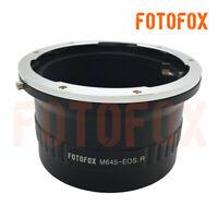 Mamiya 645 M645 mount lens to Canon EOS R RF mount full frame mirrorless adapter
