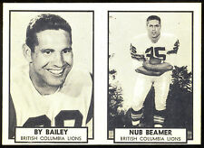 1962 TOPPS CFL FOOTBALL NM #1 BY BAILEY #2 NUB BEAMER PANEL B C LIONS PACKERS
