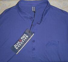 nwt JEAN PAUL GAULTIER Mens Purple Casual S/S Cotton Polo Shirt 3XL Top