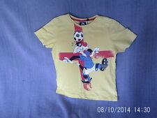 RAGAZZI 3-4 Anni-T-Shirt Giallo con Loony Tunes silvestro gatto Motivo Calcio
