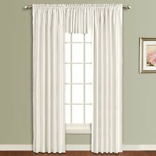 """United Curtain - Lincoln Interlined Faux Silk Window Panel - White, 54"""" X 84"""""""