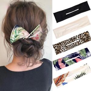Lazy Twist Female Hair Clip Printed Ponytail Holder Hair Curler French Hair Band