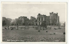 County Durham - Raby Castle, South Front - Real Photo Postcard franked 1955
