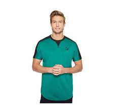 Puma Mens Ultramarine Green Black Short Sleeve Luminous Tee Shirt Small - $45
