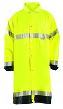 OccuNomix LUX-TJRE-Y4X Premium Breathable Waterproof Rain Jacket, Calf Length
