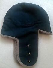 vintage Swiss military army winter wool denim hat LUpress marked surplus uniform