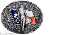 Texas Flag Cowgirl Up Belt Buckle Southern Cowboy attire Mustang Horse Rodeo