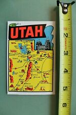 New listing Utah State Map United States V12 Vintage 1960's Water Transfer Window Decal