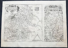 1575 Ortelius Antique Maps of Loire Valley, River & Alliers River France - 50228