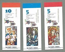 CANADA 1997 Set of Three (3) Booklets  - CHRISTMAS Stained Glass - Complete MNH