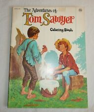 Vintage Coloring Book - The Adventures of Tom Sawyer - 1978 Waldman Publishing