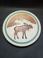 Hidden Cove Pottery Hot Plate Handmade porcelain tile Moose