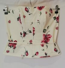 NWT Florence & Fred women Ladies Floral Strapless Bustier Tanks 14 UK RRP £18