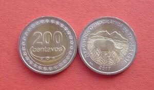Timor 2017 Cow 200 Centavos Bi-metallic Coin