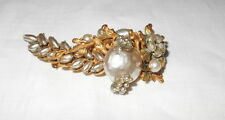 Vintage Miriam Haskell Signed Silver/Gold Tone Pearl Cluster Brooch