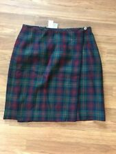 Eddie Bauer Women's Skirt Tartan Kilt Plaid  Size 8 New