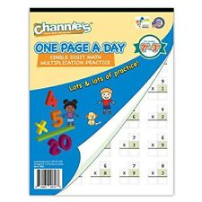Single Digit (Beginner) Multiplication Workbook for 2nd 3rd Grade One Page ADay