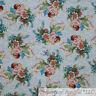BonEful Fabric Cotton Quilt White Pink Blue Cherub Angel Baby Rose Flower SCRAP