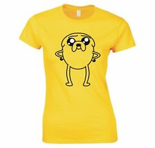 """ADVENTURE TIME """"JAKE THE DOG, PUPPY EYE'S"""" LADIES T-SHIRT NEW"""