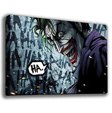 THE JOKER LAUGH BATMAN - GICLEE CANVAS ART