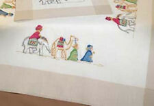 THREE MAGI Wise Men TABLE TOPPER Embroidery KIT ~ NEW