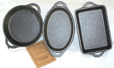 OLD MOUNTAIN CAST IRON PRE-SEASONED SINGLE SERVE DISHES- 3 PC. SET