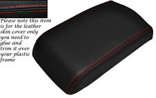 RED STITCHING LEATHER ARMREST SKIN COVER FITS MITSUBISHI GTO 3000GT 1992-1999