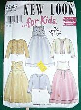 NEW LOOK for Kids #6047 - LONG DRESS & CARDIGAN/JACKET - GIRLS 3-8 - UNCUT