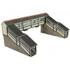Metcalfe PN136 Twin Track Covered Footbridge Die Cut Card Kit N Gauge 1st Class