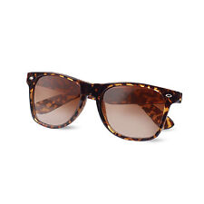 Wayfare Style Sunglasses Tortoiseshell Animal Print Spectacles Uv400 Glasses Brown