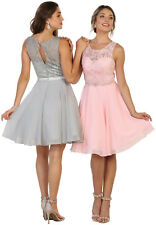 SEMI FORMAL DANCE COCKTAIL GRADUATION HOMECOMING PROM BRIDESMAIDS SHORT DRESSES