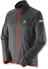 Salomon Men's Agile Wind Jacket Running Jacket Men's Large Black/Red - New!