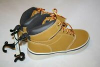 Faded Glory New Children's Boys High Top Tennis Shoes with Laces in Color: Wheat