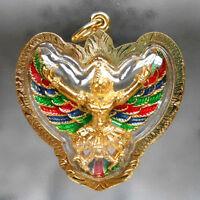 Powerful Garuda Phaya Krut Amulet Pendant Life Success Talisman Wealth Lucky