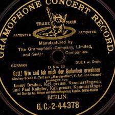 "EMMY DESTINN & PAUL KNÜPFER ""Margarethe""  Duett / & KARL JÖRN  Trio       S8034"