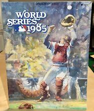 Vtg 1985 Mlb Baseball World Series Program Kansas City Royals Cardinals Nr-Mint