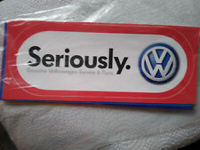 Volkswagen stickers New unused several sayings, please indicate what you prefer