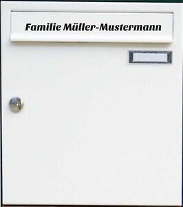 Namensaufkleber Aufkleber Namen Familie Post Briefkasten Beschriftung Höhenwahl