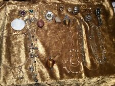 Selection of Vintage Costume Jewellery Chains & Pendants
