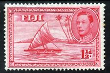 FIJI 1938-55 King George VI 1½d. Carmine SG 251  MINT
