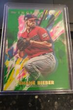 2020 Topps Inception Shane Bieber GREEN Parallel Card # 54