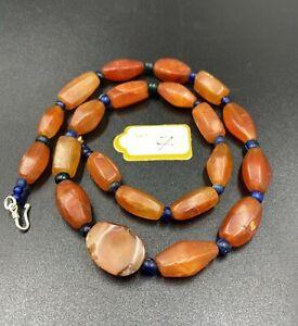Himalayan Tibetan  carnelian old beads mala necklace Original very beautiful