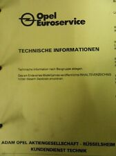 Werkstattbuch Reparaturleitfaden Opel Caravan Omega Technische Info #7008