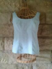 Women's turquoise blue, sleeveless, cotton mix top - NEXT - size 10