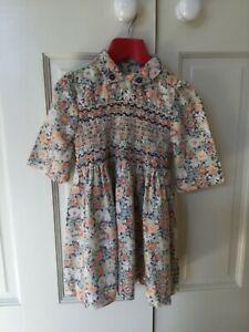 Vintage Liberty of London fabric Girls smocked Dress