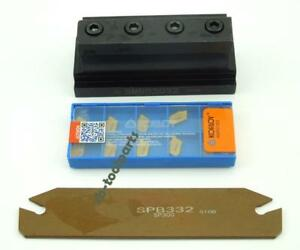 10 pcs Carbide Inserts + SPB32-3mm Grooving Cut-Off Cutter SMBB2032 Tool Holder